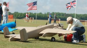 Fueling Fields' B25 At Spring, 2016 Rembert, SC Sodbuster Fly-In